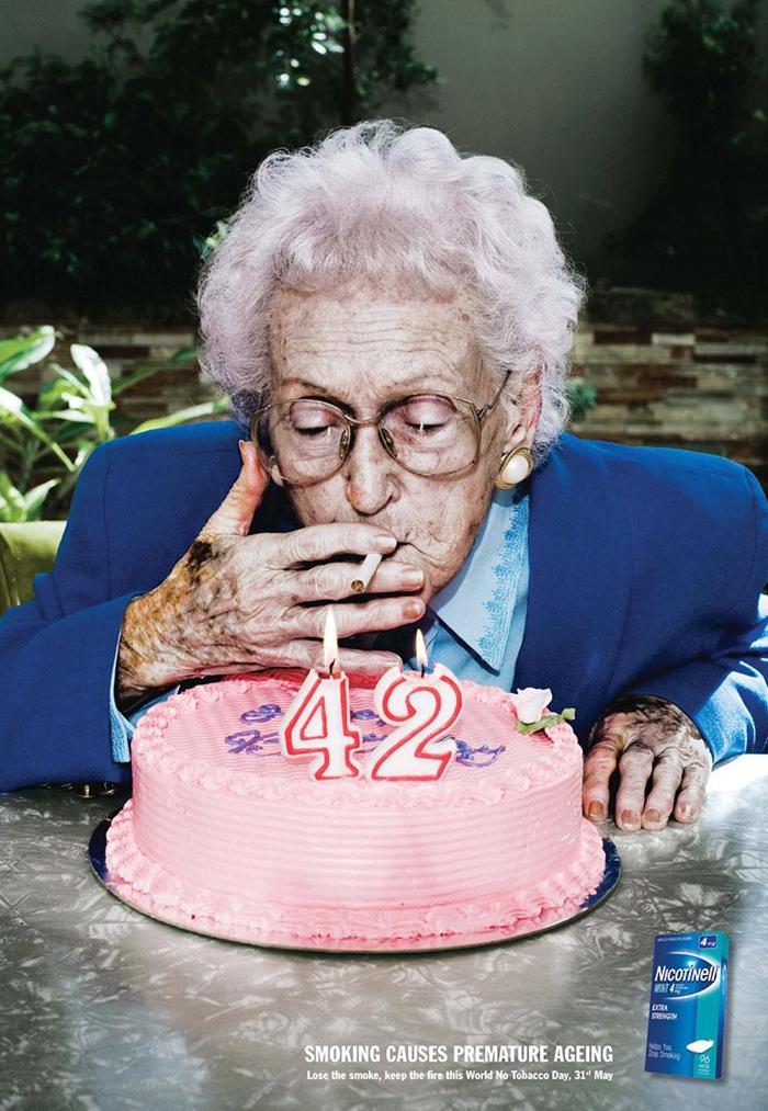 Fumar causa envejecimiento prematuro.