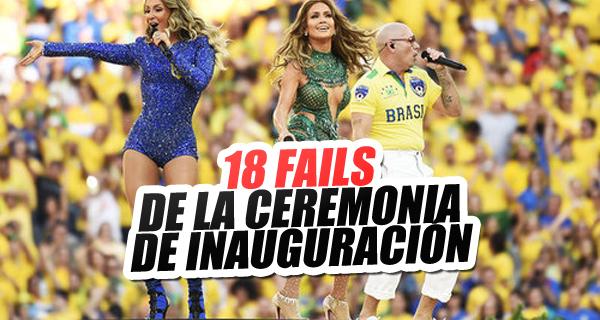 Nota:18 Momentos terribles de la ceremonia de inauguración ...