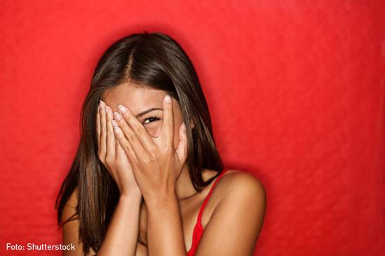 Mujer-timida