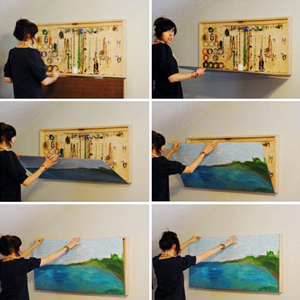 25 ideas ingeniosas para ahorrar espacio y decorar - Ideas de cuadros ...