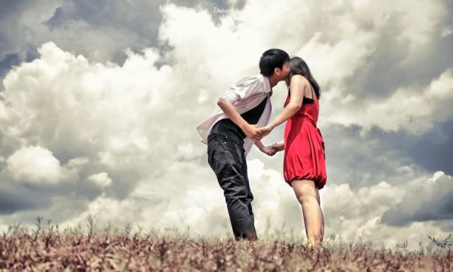 beso romantico - chicos enamorados - amor - imagenes romanticas