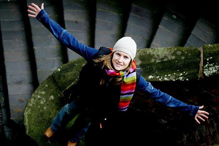 jane open arms stairs