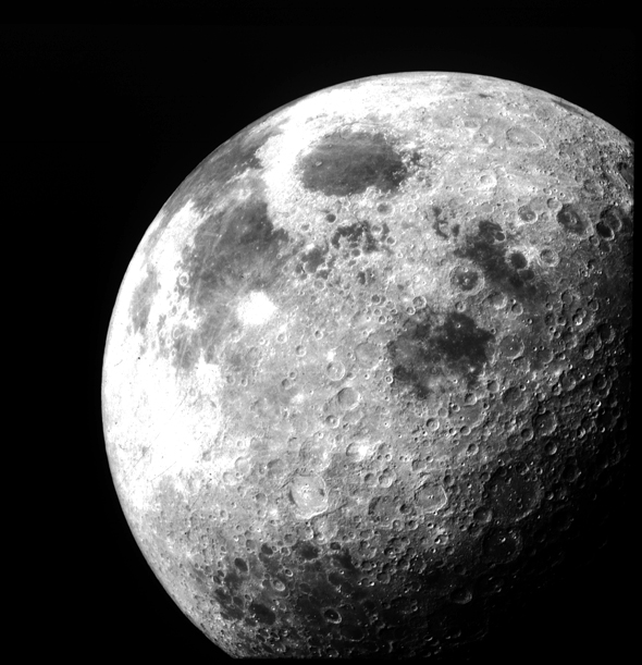 The Moon after Apollo 12 left lunar orbit. The photo was taken f