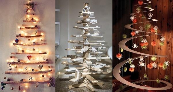 25 hermosas alternativas para tener un rbol de navidad - Decoracion alternativa ...
