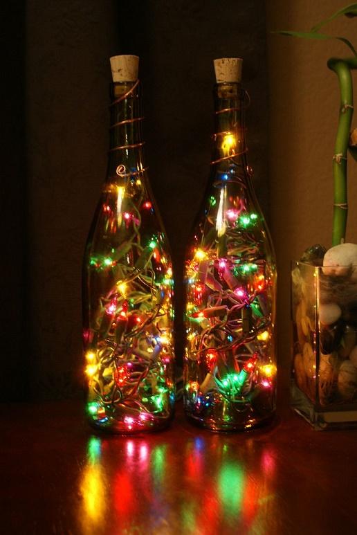 esta forma de colocar las luces de navidad me resulta genial espero que tambin te guste tanto como a mi