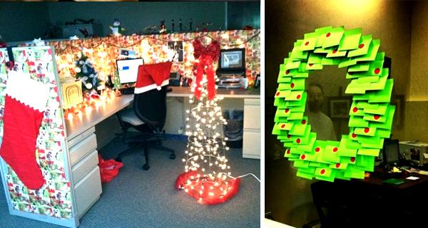 Humor 22 empleados que se toman la navidad demasiado en for Adornos de oficina para navidad