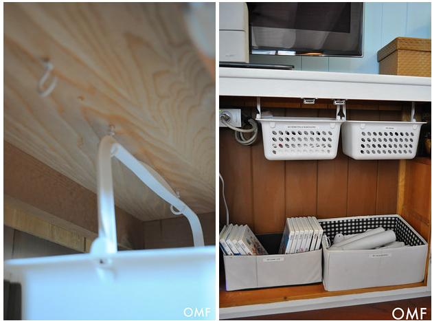 51 trucos para almacenar objetos en tu casa sin utilizar - Cestas extraibles para armarios ...