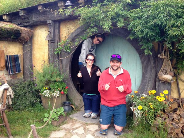 Kiwi Experience Drivers in Hobbiton