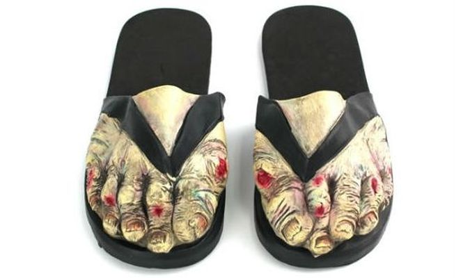 Zombie Slippers - Your Graveyard Fresh Looking Comfy Home Sandals