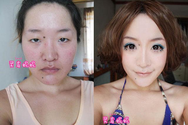 18 chicas asiáticas antes y después del maquillaje ¡Impresionante!