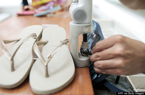 BRAZIL-ECONOMY-BUSINESS-FOOTWEAR-HAVAIANAS