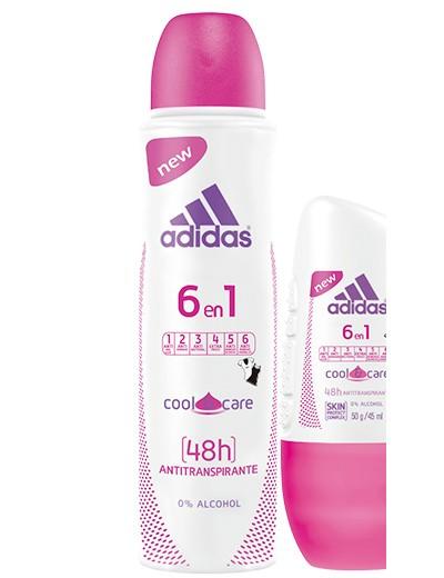 desodorante adidas 6 en 1