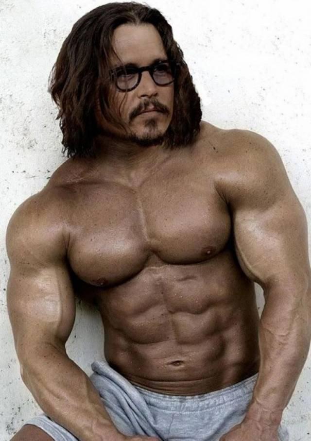 Como serían estas celebridades con cuerpos super musculosos