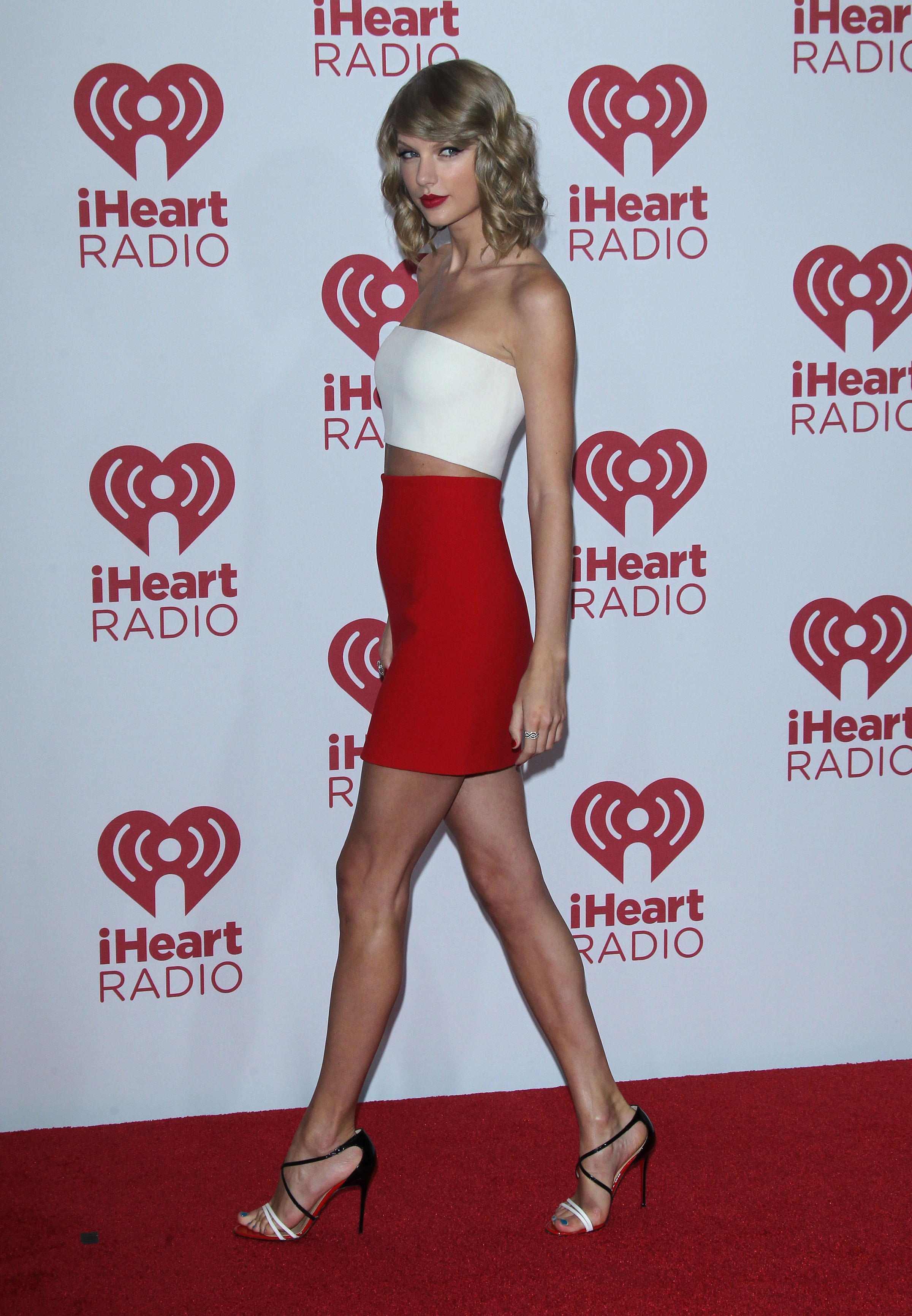 Taylor Swift seen at the IHeartRadio Music Festival in Las Vegas