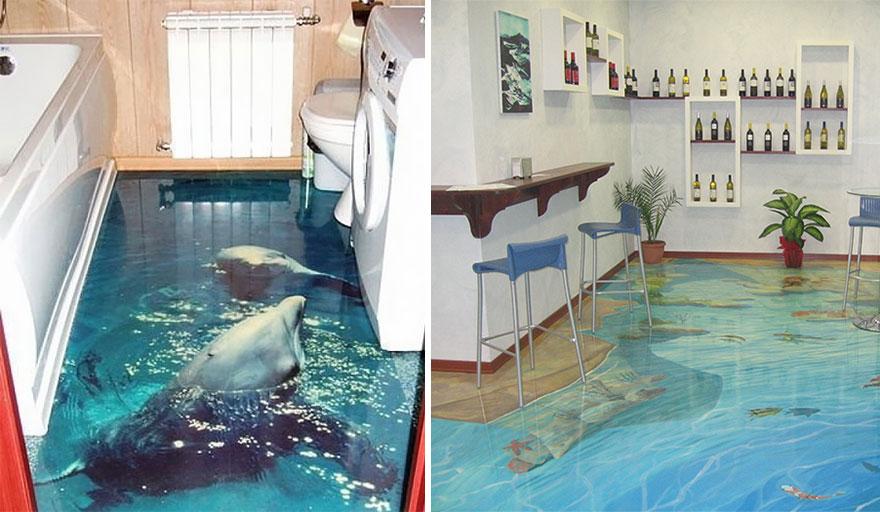 Quieres un océano en tu baño? coloca estos geniales pisos 3d y ...