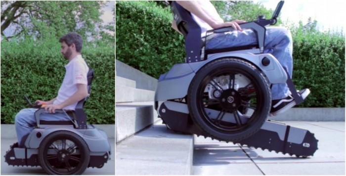 Una silla de ruedas capaz de subir escaleras