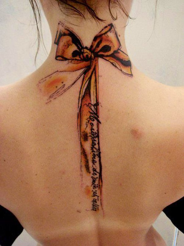 28-watercolor-ribbon-tattoo-on-neck