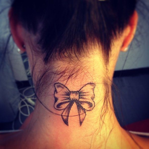 38-ribbon-tattoo-on-neck