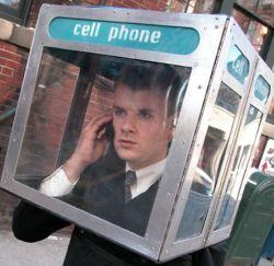 Cabina telefonica portatil