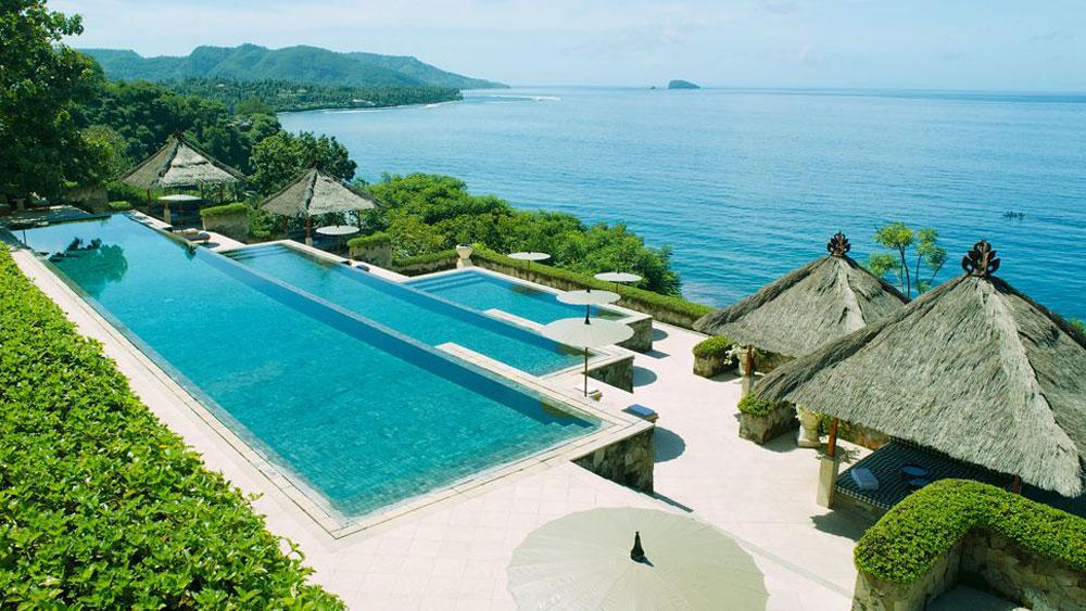 The Amankila resort on Bali