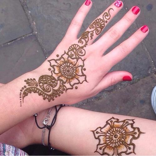 23 tatuajes de mandalas temporales o permanentes que tus for Henna para manos