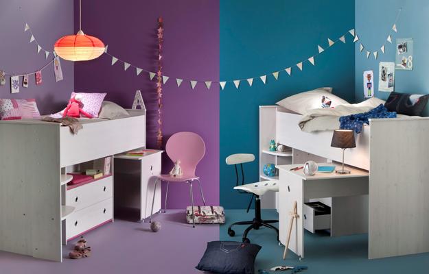 Ni o y ni a 25 ideas geniales para habitaciones compartidas difundir org - Habitaciones para dos ninas ...