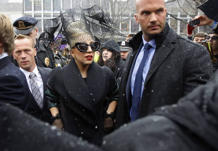 Lady Gaga arrives at Harvard University to launch her Born This Way Foundation in Cambridge