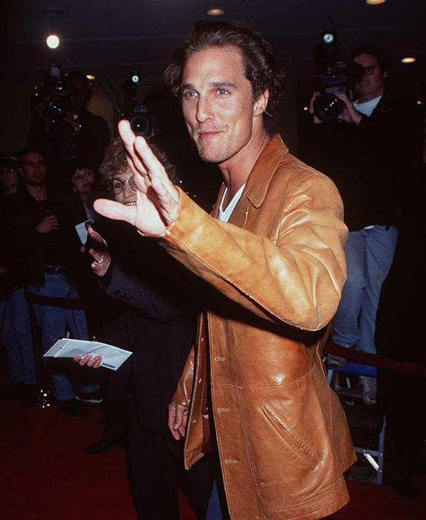 "12/2/97 WestWood, Ca Matthew McConaughey at the movie premiere of ""Good Will Hunting."""