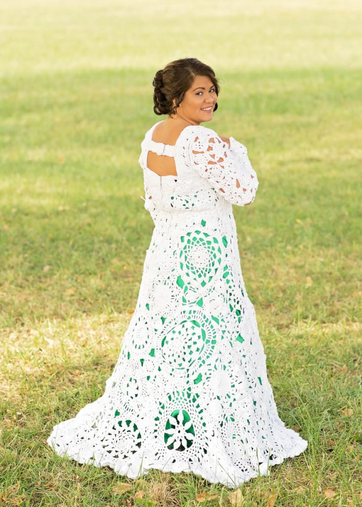 No tenía dinero para su vestido de NOVIA y lo hizo ella misma en 8 ...