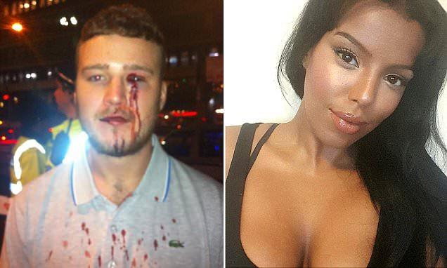 Justin Lloyd attacked by Shadiya Omar in a Manchester bar