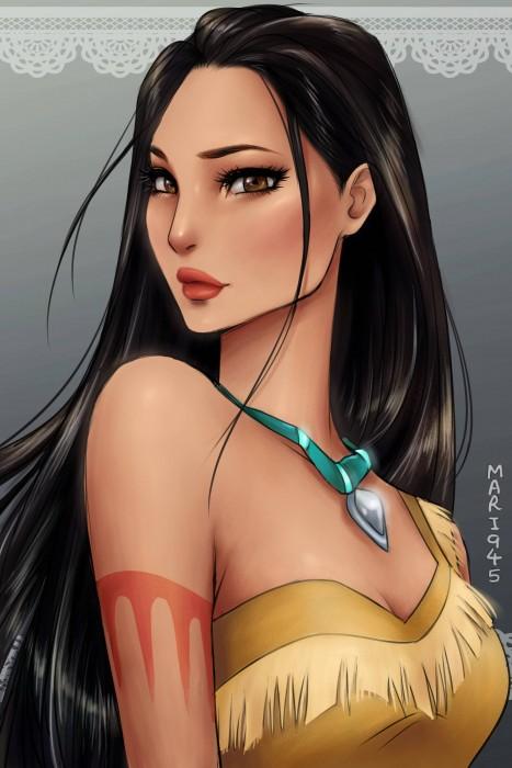 Princesas-de-Disney-como-anime-10-467x700