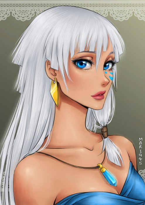 Princesas-de-Disney-como-anime-11-495x700
