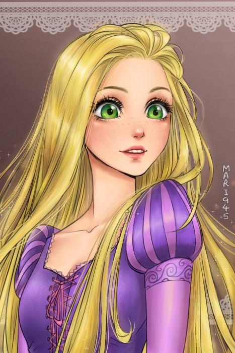 Princesas-de-Disney-como-anime-3-467x700