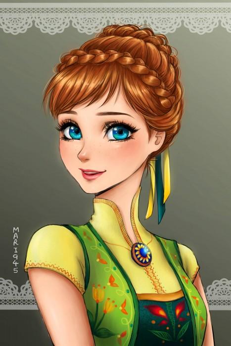 Princesas-de-Disney-como-anime-8-467x700