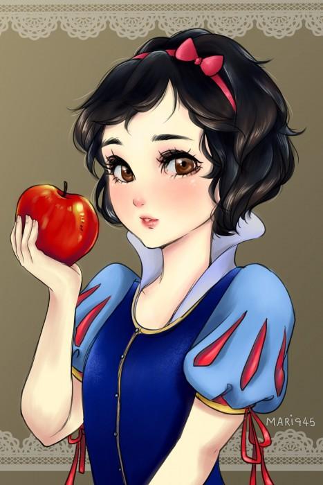 Princesas-de-Disney-como-anime-9-467x700