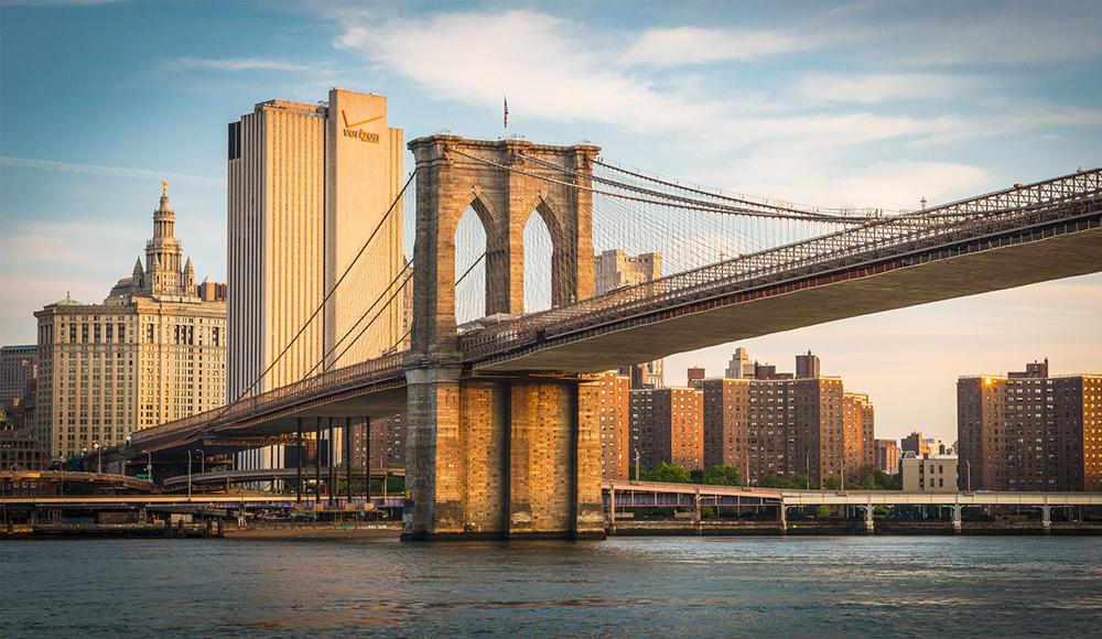 Manhattan Suspension Bridge under Construction as viewed from Brooklyn