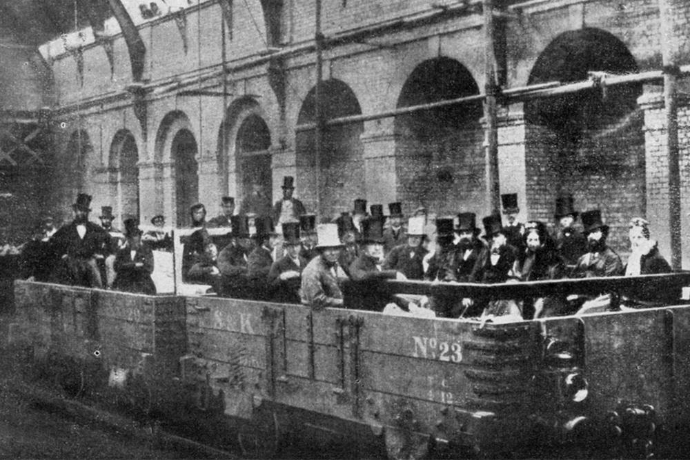 Prime Minister William Gladstone opens the Metropolitan Railway, London, 1863 (1951).