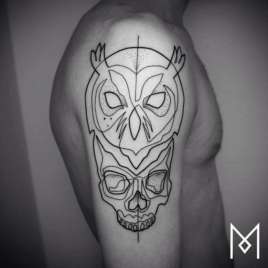 15 Tatuajes minimalistas echos con solo una linea