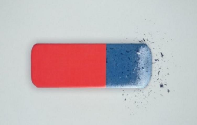 ¿Sabes para qué sirve la parte áspera de los borradores de dos colores?