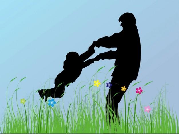 padre-e-hijo-felicidad-flores-siluetas_21-39396873