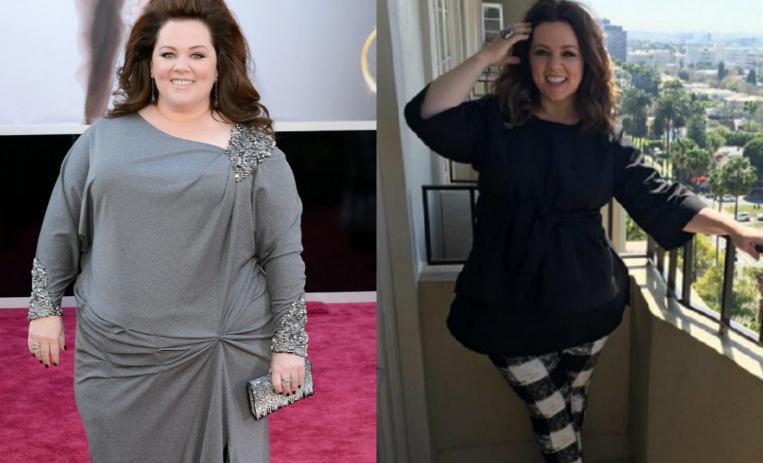 El antes y después de 8 famosas que dejaron la talla XXL