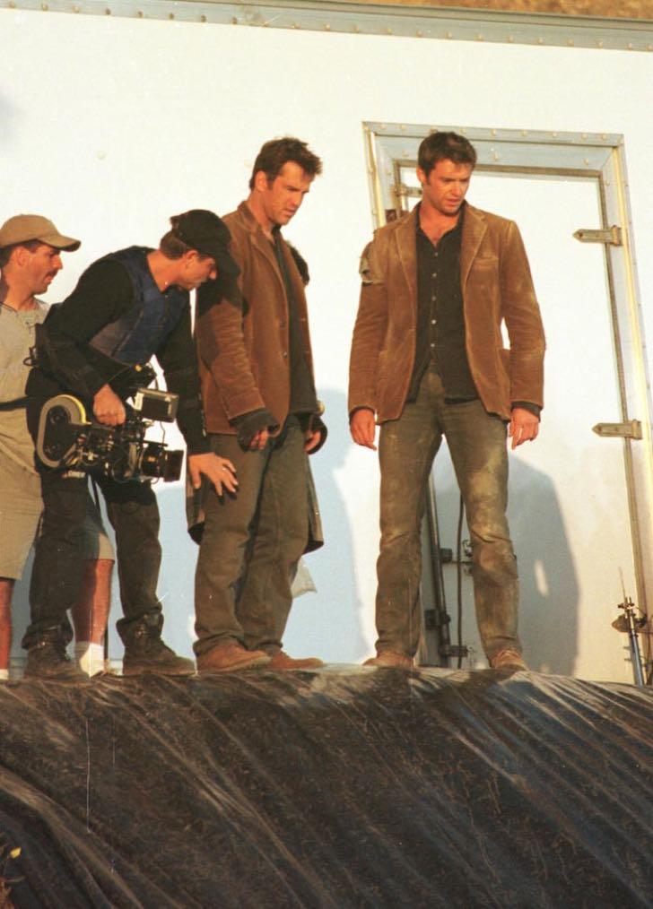 Actor Hugh Jackman Films A Scene