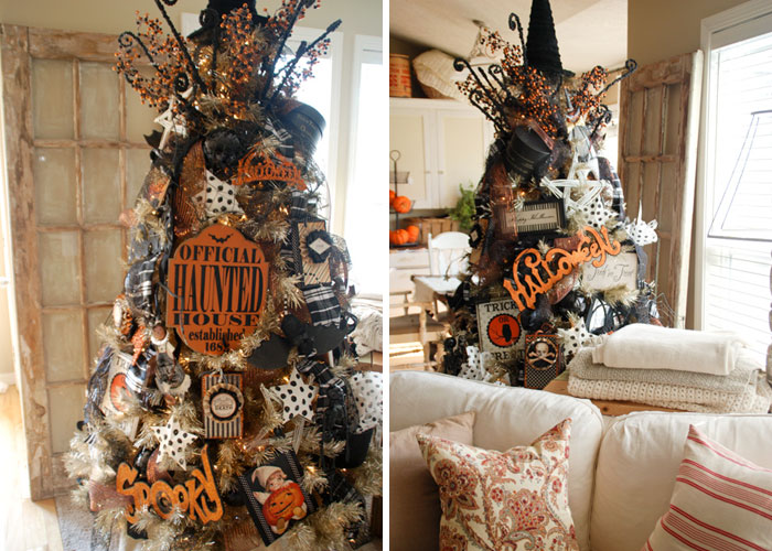 23 arbolitos de navidad decorados con halloween son la for Imagenes de arbolitos de navidad adornados