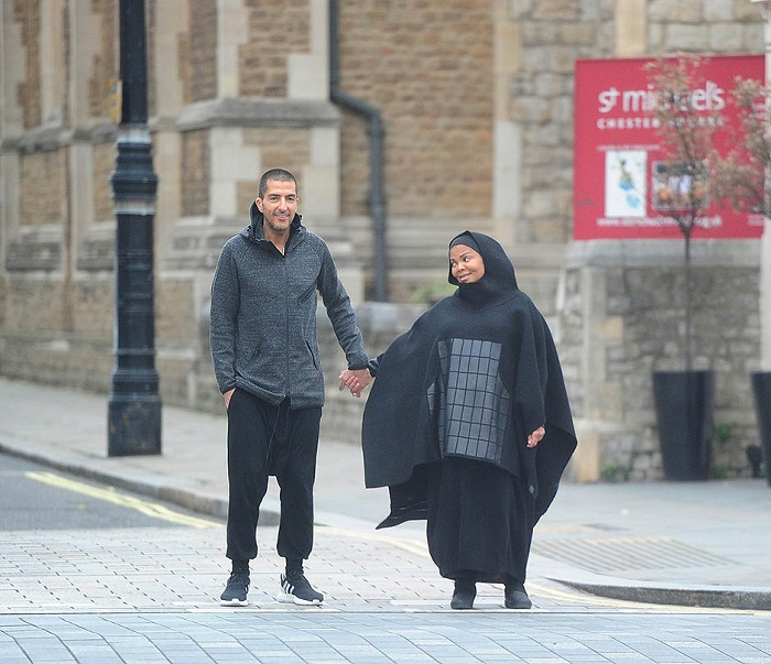 EXC - Pregnant Janet Jackson pictured with husband Wissam Al Mana in London
