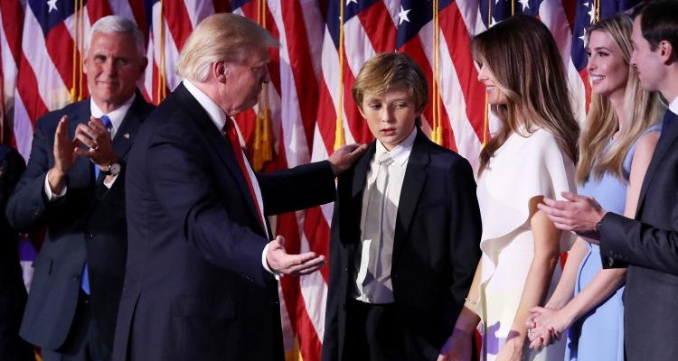 barron-trump-family-joe-raedle-staff-getty