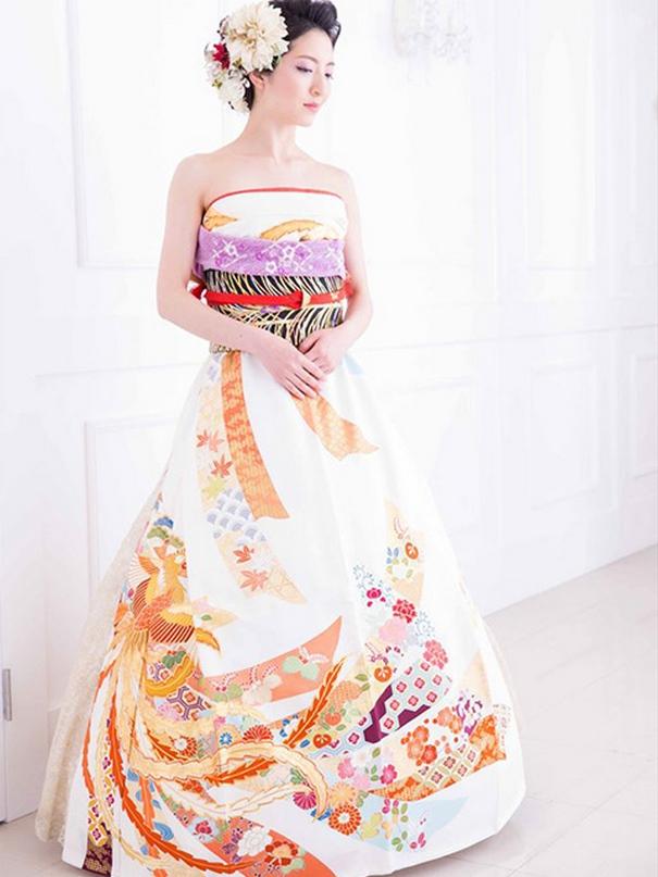 15 novias japonesas transforman sus kimonos en hermosos vestidos de ...