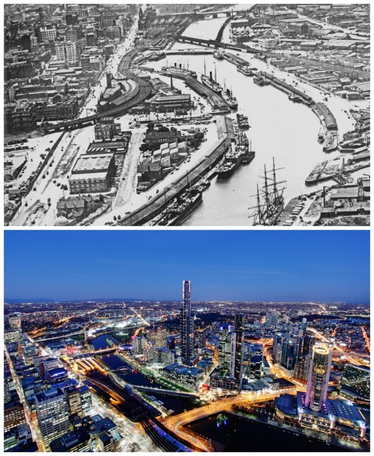 Melbourne-Australia-1920-and-today