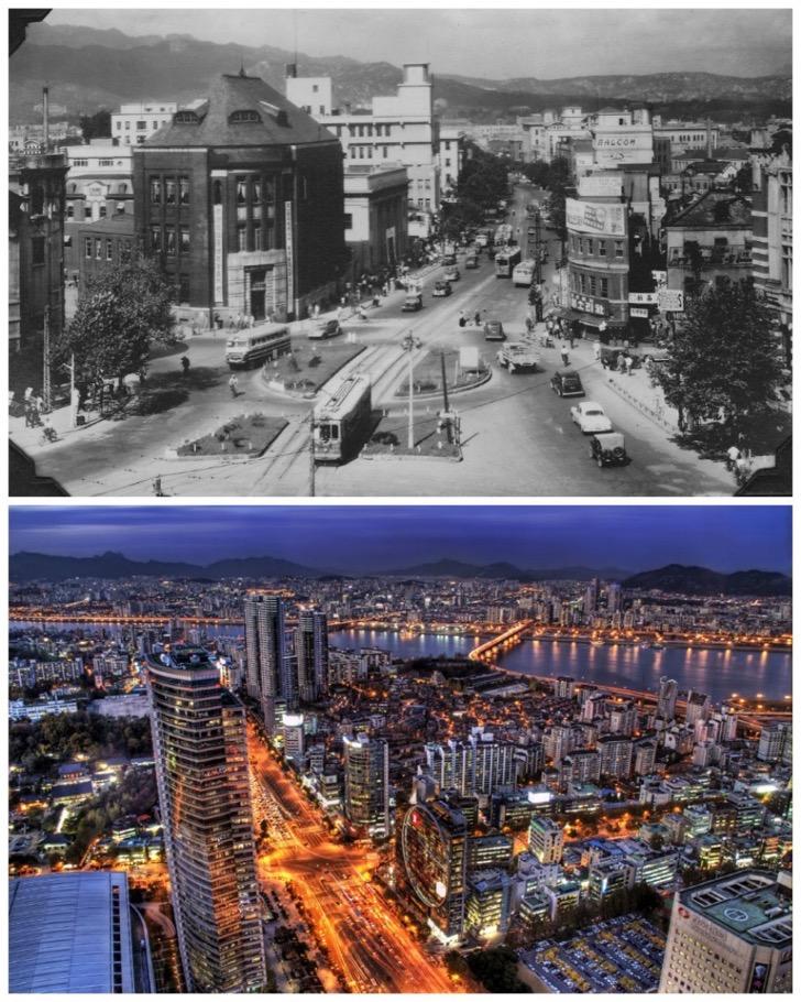 Seoul-South-Korea-1950-vs.-the-present-day