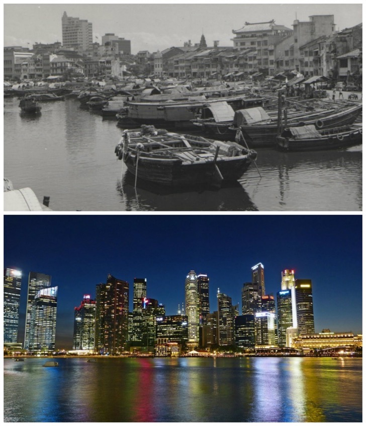 Singapore-The-1960s-vs.-now