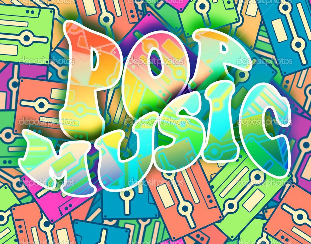 Pop music retro concept Vintage poster design